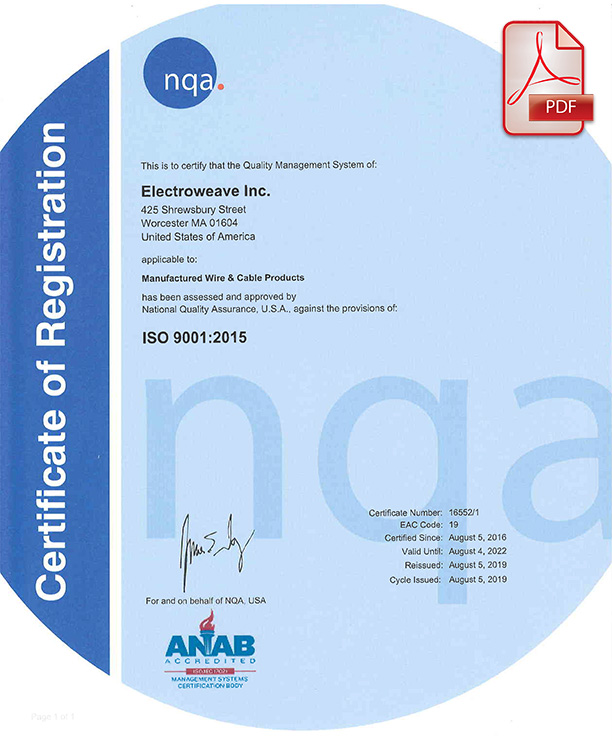 Download the Electroweave ISO Certificate